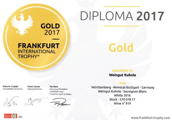 Prämierte Weine Weingut Kuhnle - Württemberger Weine